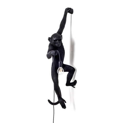 The Monkey Lamp in Black Hanging Version design by Seletti