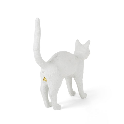 Felix Portable Cat Lamp in White by Seletti