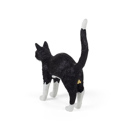 Felix Portable Cat Lamp in Black & White