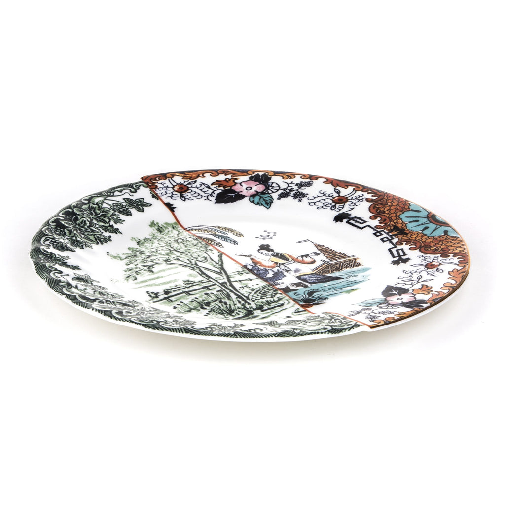 Hybrid Ipazia Porcelain Dinner Plate design by Seletti
