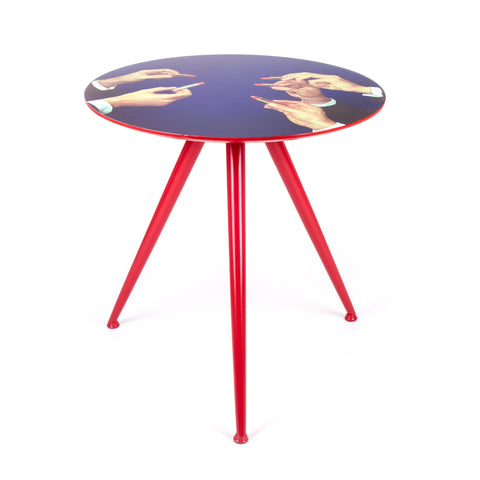 Seletti Wears Toiletpaper Wooden Table - Lipstick design by Seletti