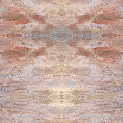 Serene Jewel Wallpaper in Orange from the Impressionist Collection by York Wallcoverings