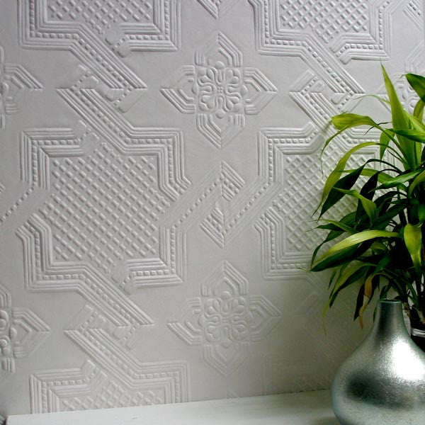 Seymour Paintable Supaglypta Wallpaper design by Brewster Home Fashions