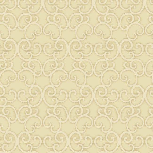 Sample Shadow Scroll Wallpaper in Metallic and Pearlescent by Antonina Vella for York Wallcoverings