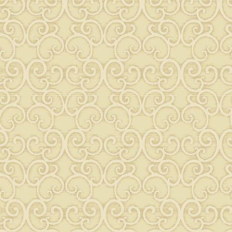Shadow Scroll Wallpaper in Metallic and Pearlescent by Antonina Vella for York Wallcoverings
