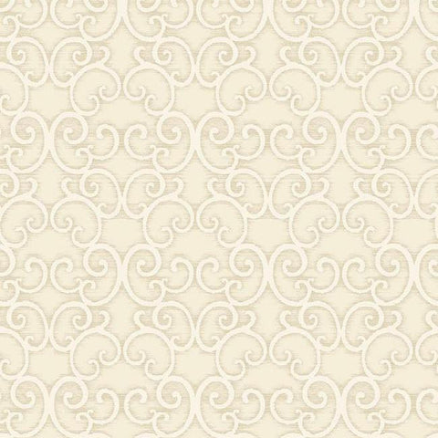 Shadow Scroll Wallpaper in Metallic and Soft Grey by Antonina Vella for York Wallcoverings