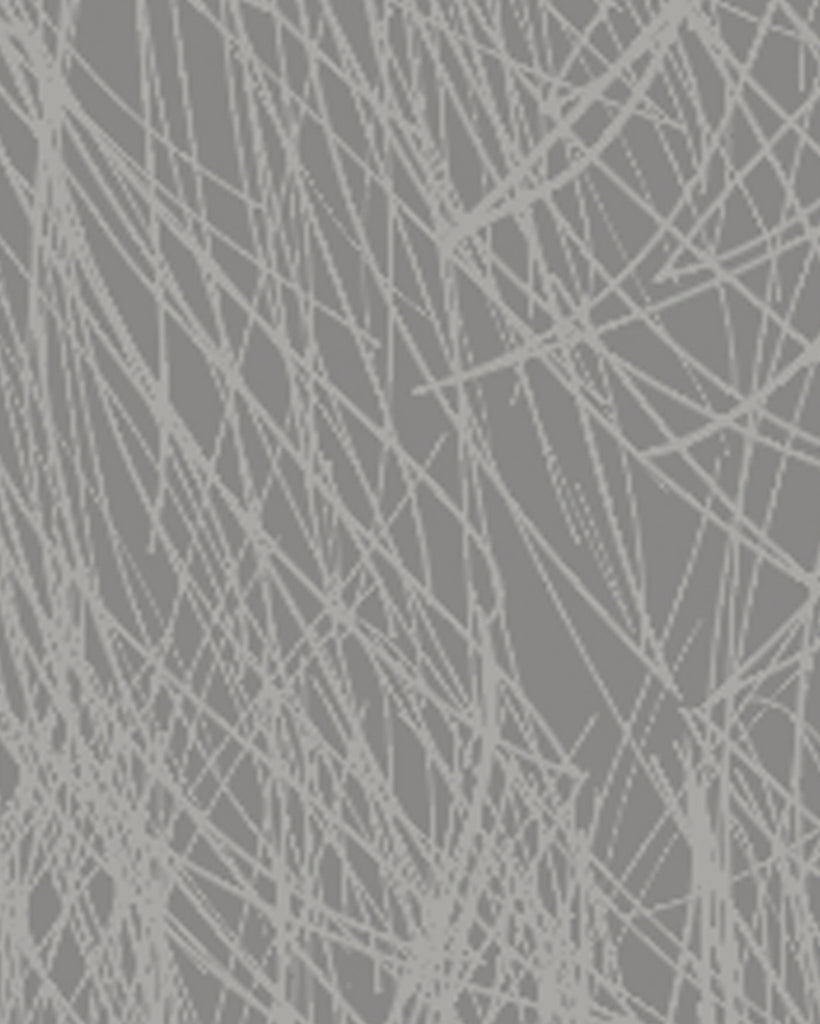 Shag Wallpaper in Steel Wool design by Jill Malek