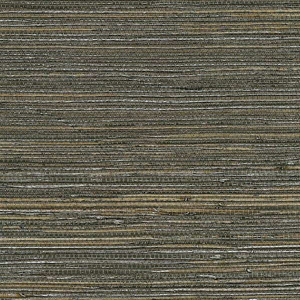 Shandong Ramie Grasscloth Wallpaper in Chocolate by Brewster Home Fashions