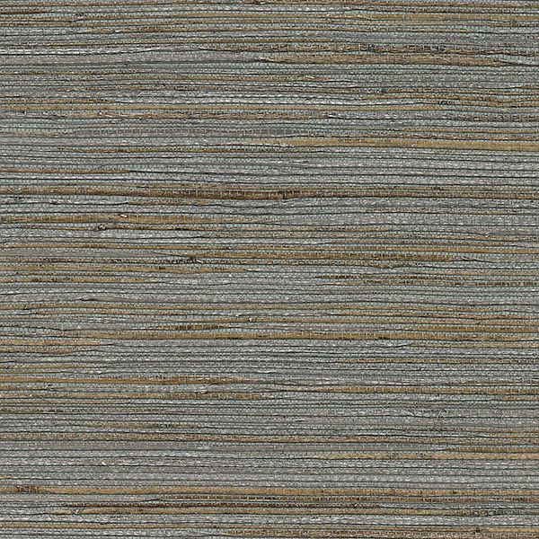 Shandong Ramie Grasscloth Wallpaper in Slate by Brewster Home Fashions