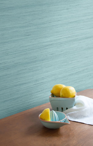 Shantung Silk Wallpaper in Cabana from the More Textures Collection by Seabrook Wallcoverings