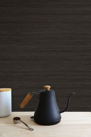 Shantung Silk Wallpaper in Clove from the More Textures Collection by Seabrook Wallcoverings
