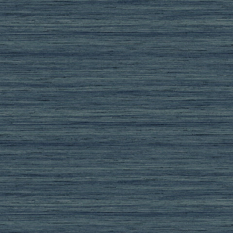 Shantung Silk Wallpaper in Hampton Blue from the More Textures Collection by Seabrook Wallcoverings
