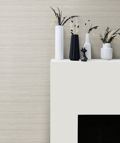 Shantung Silk Wallpaper in Marshmallow from the More Textures Collection by Seabrook Wallcoverings