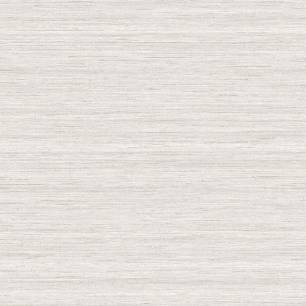 Shantung Silk Wallpaper in Pearl from the More Textures Collection by Seabrook Wallcoverings