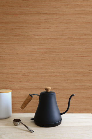 Shantung Silk Wallpaper in Persimmon from the More Textures Collection by Seabrook Wallcoverings