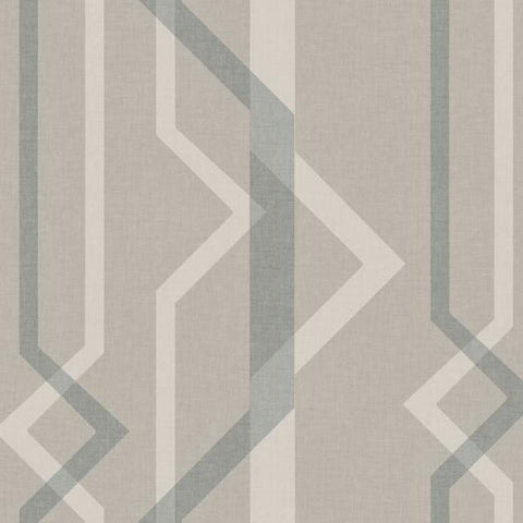 Shape Shifter Wallpaper in Dark Beige from the Geometric Resource Collection by York Wallcoverings