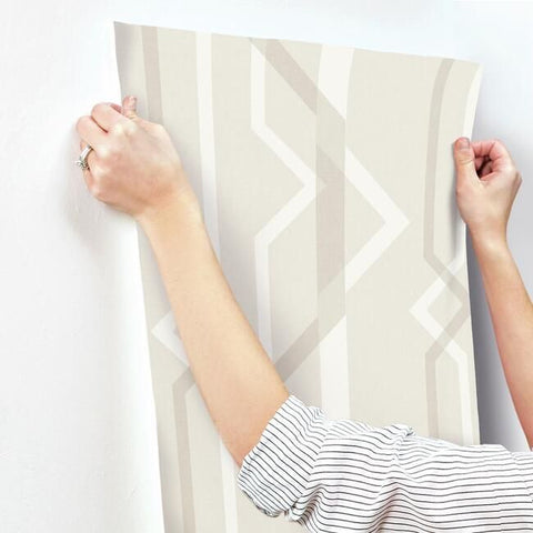 Shape Shifter Wallpaper in Ivory from the Geometric Resource Collection by York Wallcoverings