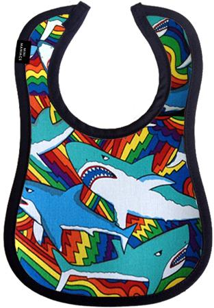 Sharky Baby Bib by Mini Maniacs