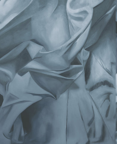 Sheets Wallpaper in Blue, Silver, and Grey from the Aerial Collection by Mayflower Wallpaper