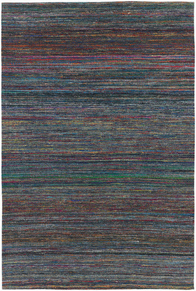Shenaz Hand-Woven Dhurrie Area Rug in Dark Multi design by Chandra rugs