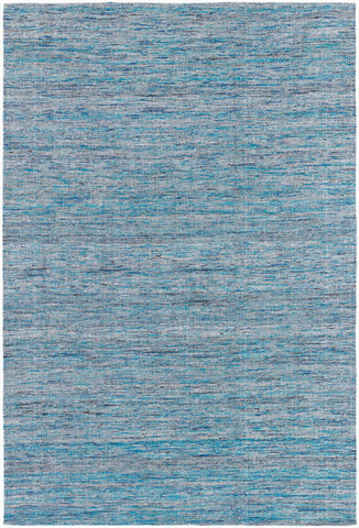 Shenaz Hand-Woven Dhurrie Area Rug in Light Blue Multi design by Chandra rugs