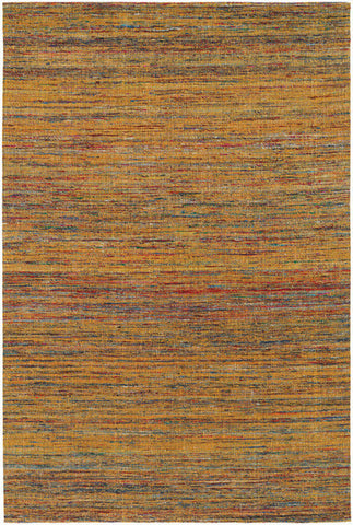 Shenaz Hand-Woven Dhurrie Area Rug in Orange Multi design by Chandra rugs