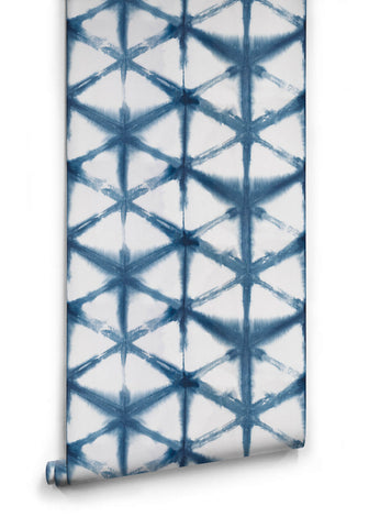 Shibori Star Wallpaper in Aleutian from the Shibori Collection by Milton & King