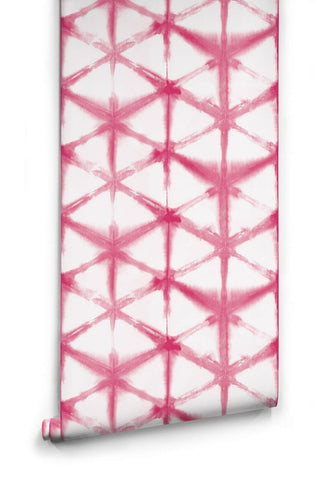 Shibori Star Wallpaper in Lipstick from the Shibori Collection by Milton & King
