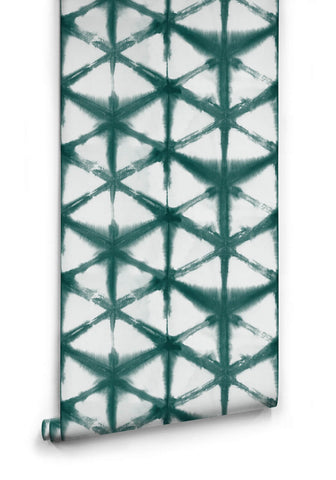 Shibori Star Wallpaper in Ocean from the Shibori Collection by Milton & King