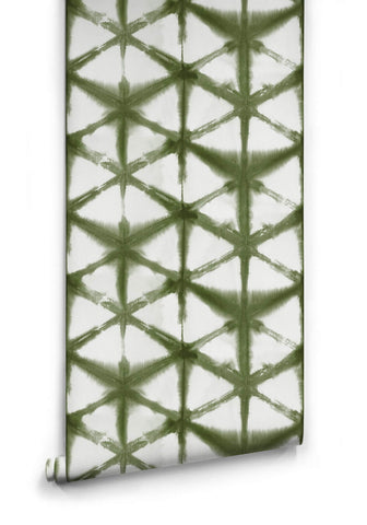Shibori Star Wallpaper in Olive from the Shibori Collection by Milton & King