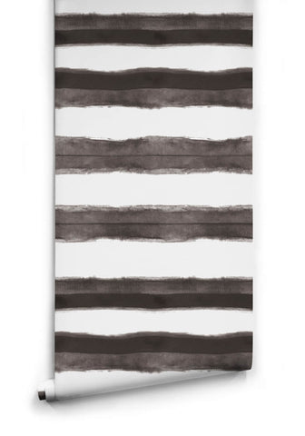 Shibori Stripe Wallpaper in Driftwood from the Shibori Collection by Milton & King