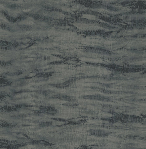 Shibori Wallpaper in Black and Navy from the Solaris Collection by Mayflower Wallpaper