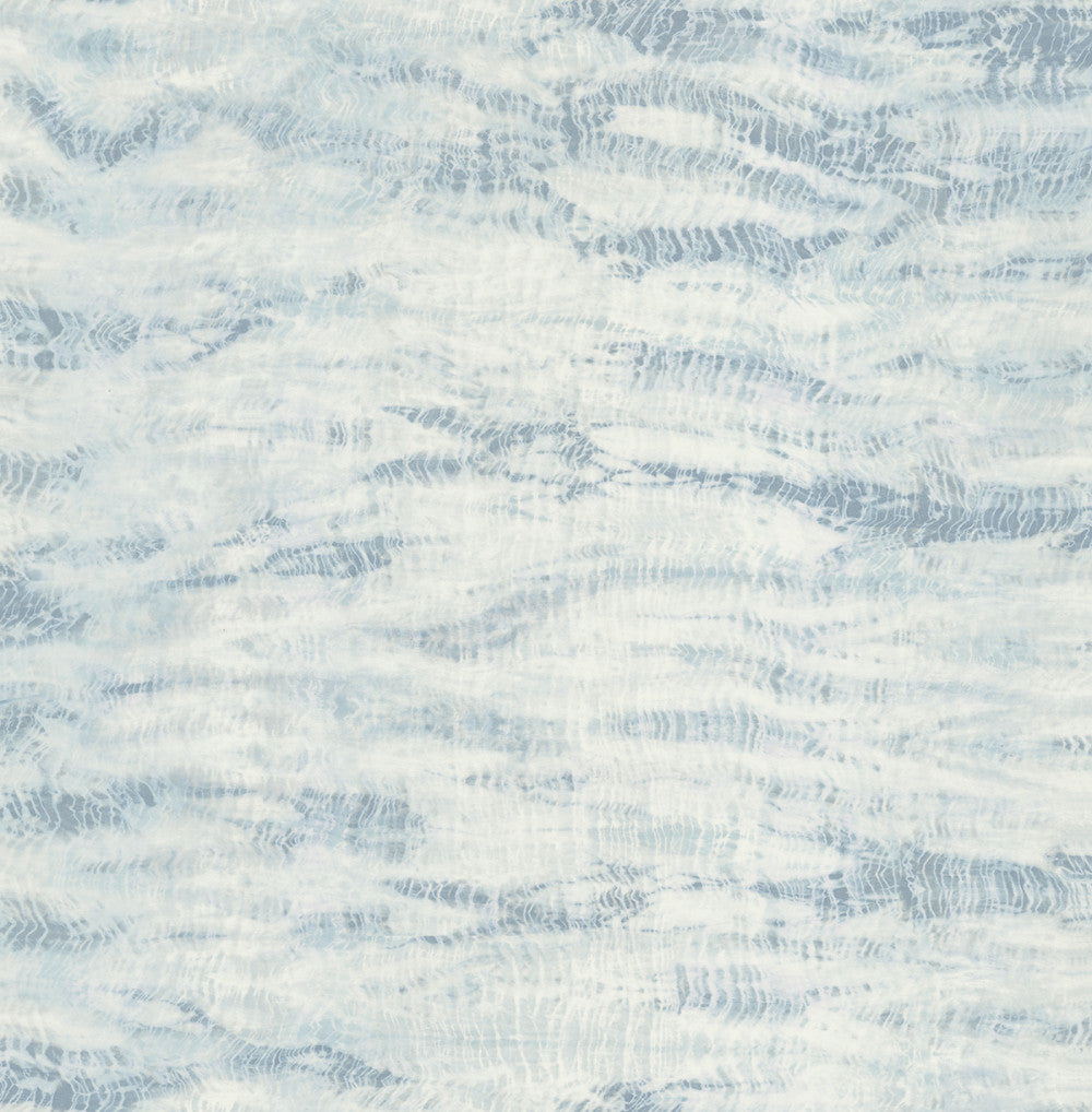 Sample Shibori Wallpaper in Blue and Cream from the Solaris Collection by Mayflower Wallpaper