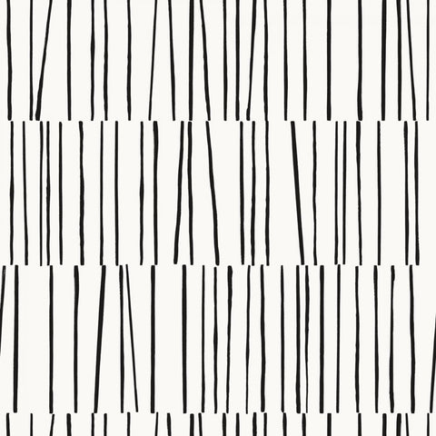 Shift Self Adhesive Wallpaper in Black and White by Bobby Berk for Tempaper