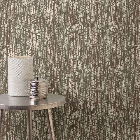Shimmer Abstract Texture Wallpaper in Red from the Moonlight Collection by Brewster Home Fashions