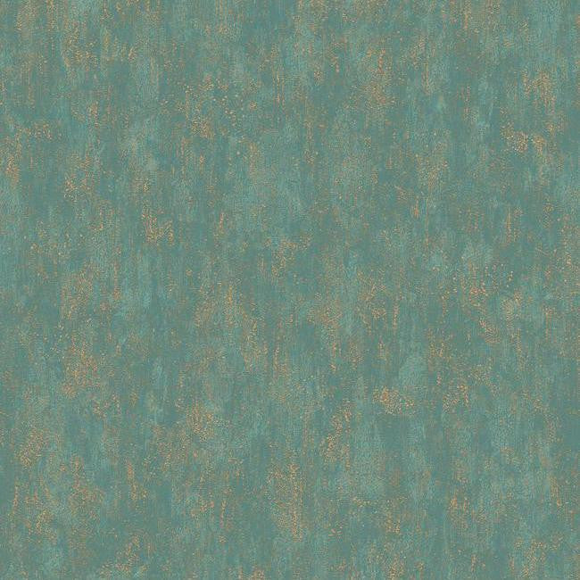 Shimmering Patina Wallpaper In Gold And Deep Turquoise By