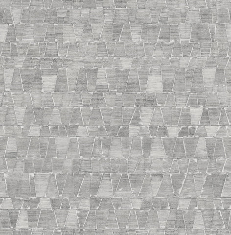 Shingle Wallpaper in Grey and Cream from the Aerial Collection by Mayflower Wallpaper