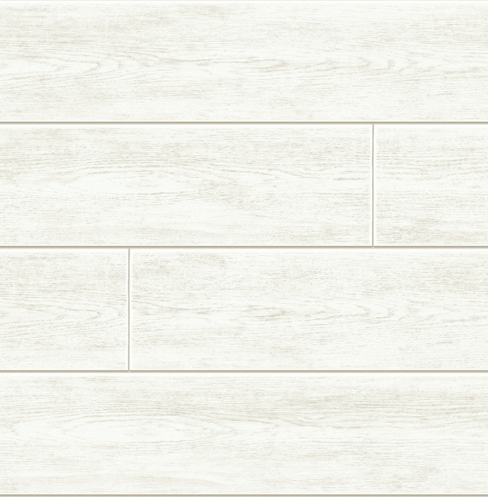 Sample Shiplap Peel-and-Stick Wallpaper in Off White by NextWall