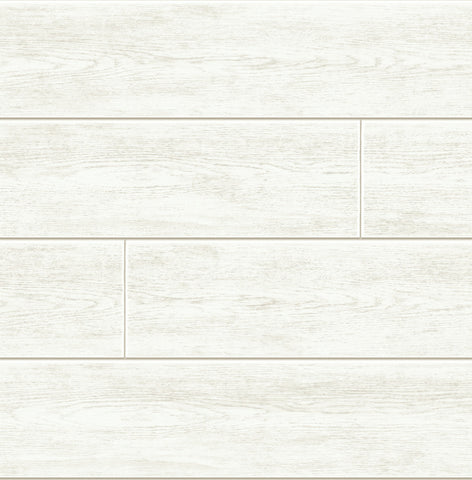 Shiplap Peel-and-Stick Wallpaper in Off White by NextWall