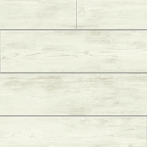 Shiplap Wallpaper in Light Neutrals and Grey from the Magnolia Home Collection by Joanna Gaines for York Wallcoverings