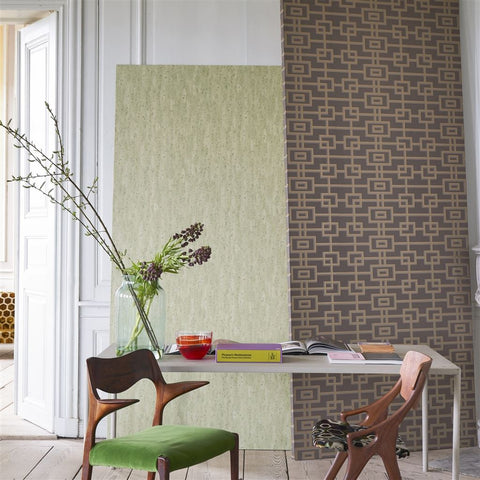 Shirakawa Wallpaper in Cedar from the Zardozi Collection by Designers Guild