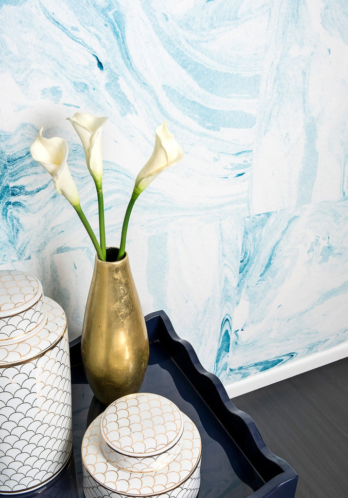 Shoreline Wallpaper from the Tastemakers Collection design by Milton & King