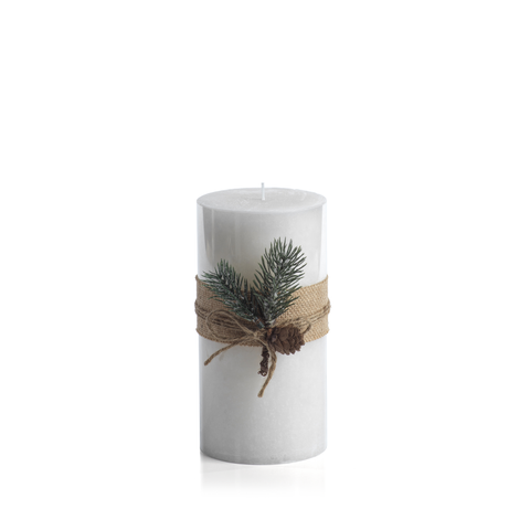 Siberian Fir Rustic Pillar Candle in Various Sizes