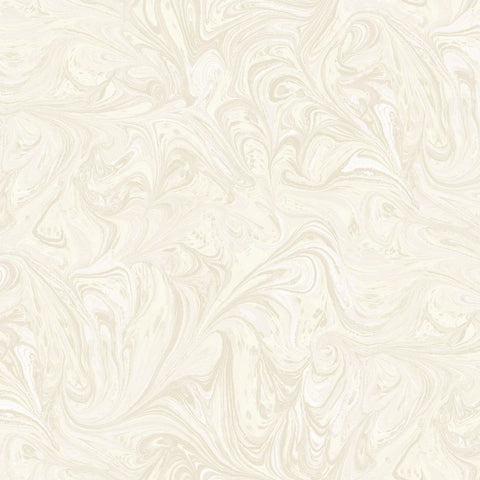 Sierra Marble Wallpaper in Cream and Ivory from the Boho Rhapsody Collection by Seabrook Wallcoverings
