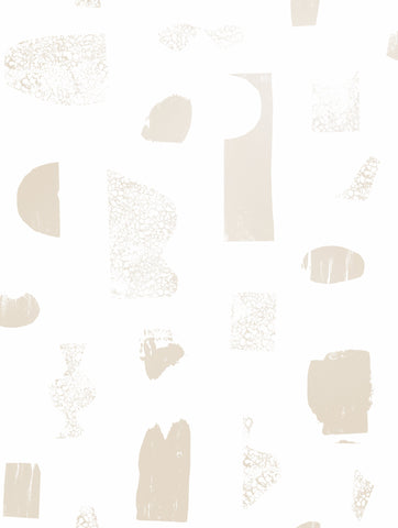 Sample Silhouettes Wallpaper in Champagne and Cream by Juju