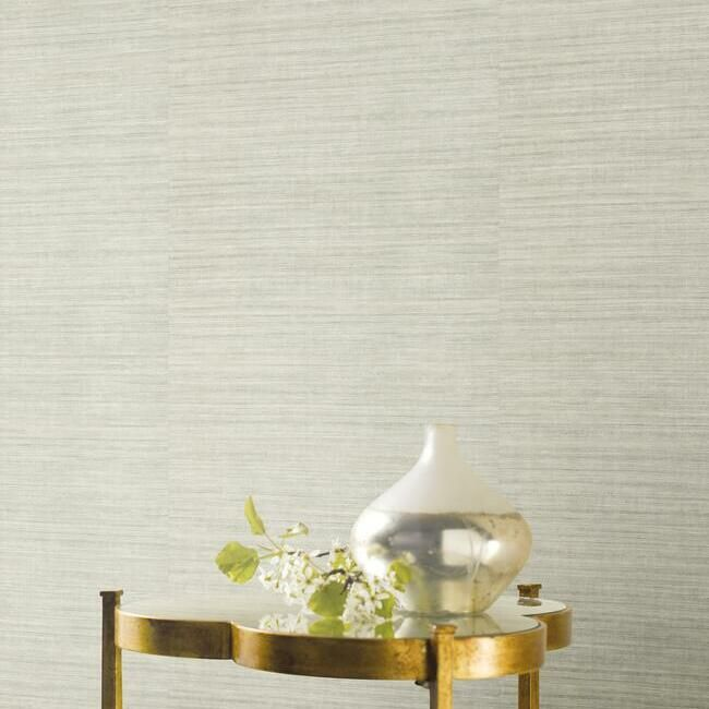 Silk Elegance Vinyl Wallpaper in Fog from the Ronald Redding 24 Karat Collection by York Wallcoverings