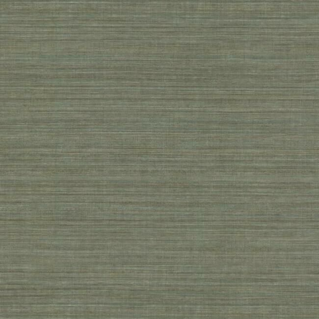 Silk Elegance Vinyl Wallpaper in Grey-Blue from the Ronald Redding 24 Karat Collection by York Wallcoverings