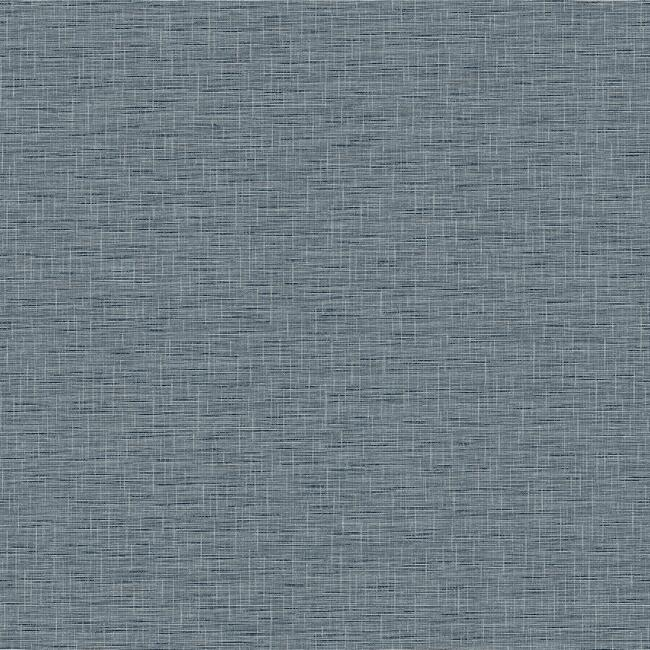 Sample Silk Linen Weave Wallpaper in Navy from the Simply Farmhouse Collection by York Wallcoverings