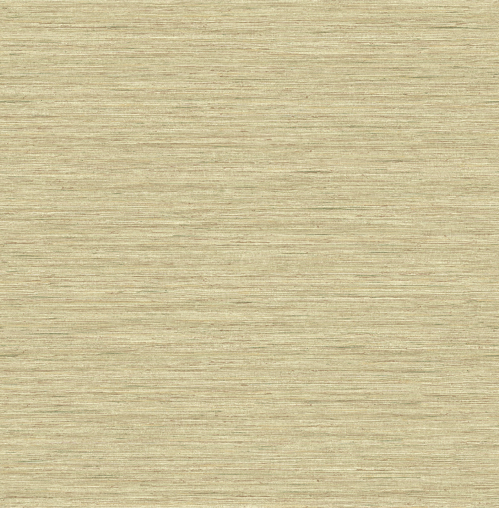 Silk Texture Wallpaper in Gold from the Caspia Collection by Wallquest