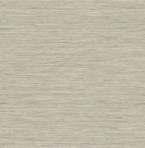 Silk Texture Wallpaper in Taupe from the Caspia Collection by Wallquest